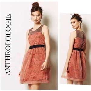 ANTHROPOLOGIE LILI WANG FRATTINA LACE DRESS SIZE 8